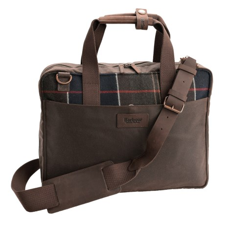 Barbour Tartan Slim Laptop Bag