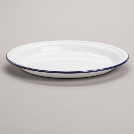 Crow Canyon Round Enamelware Tray - Medium