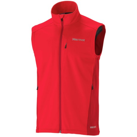 Marmot Leadville Soft Shell Vest - Windstopper® (For Men)
