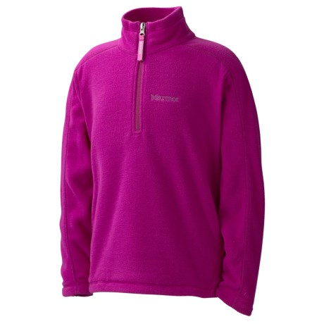 Marmot Rocklin Pullover - Zip Neck, Long Sleeve (For Little and Big Girls)