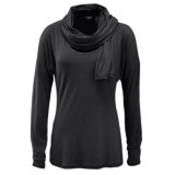 Merrell Evoke Jersey T-Shirt - Built-In Scarf, Long Sleeve (For Women)