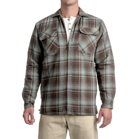 Wolverine Marshall Flannel Shirt Jacket - Sherpa Lining (For Men)
