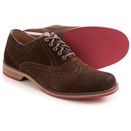 Wolverine No. 1883 Dex Red Sole Wingtip Shoes - Waxed Suede (For Men)
