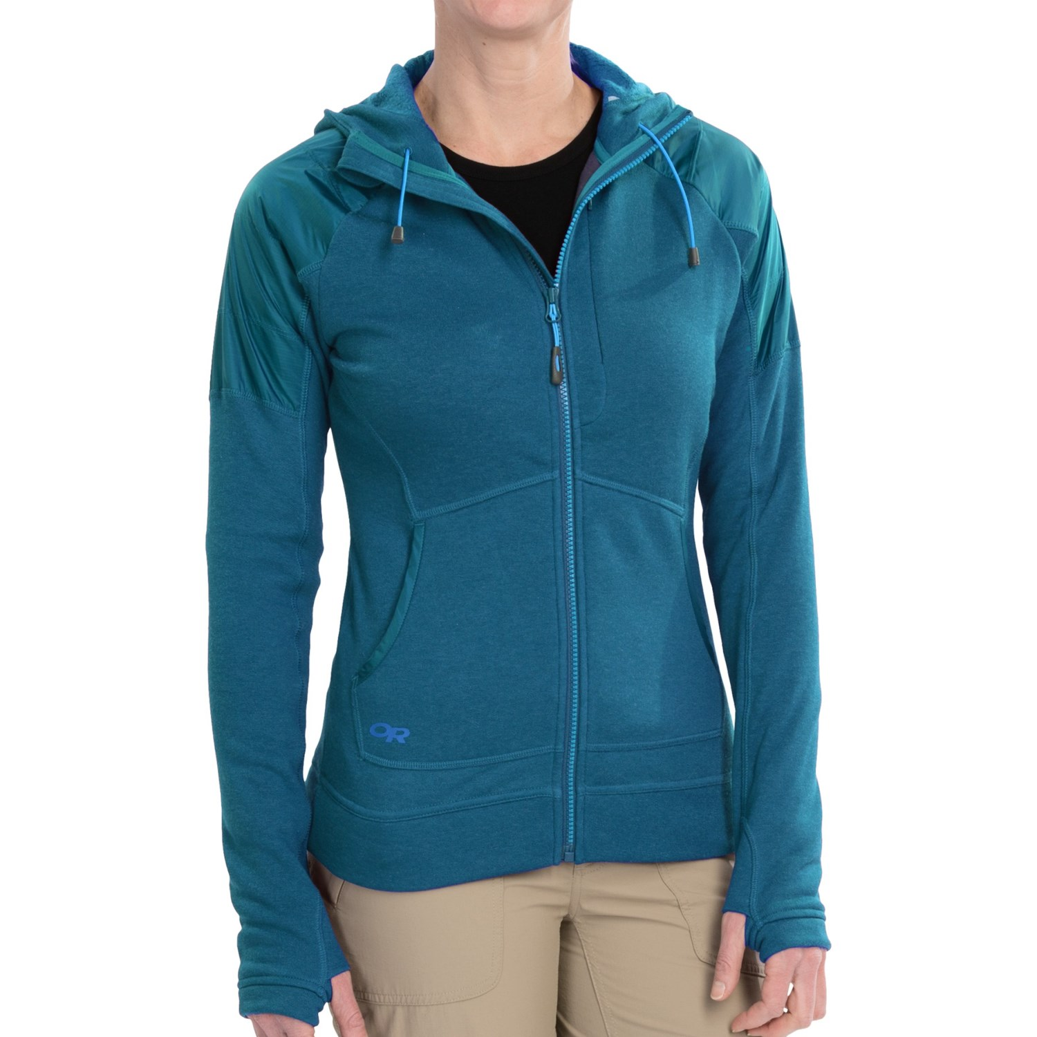 Outdoor research constellation hooded jacket for women for Constellation fleece fabric