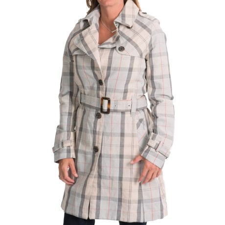 Barbour Birch Trench Coat - Cotton-Linen (For Women)