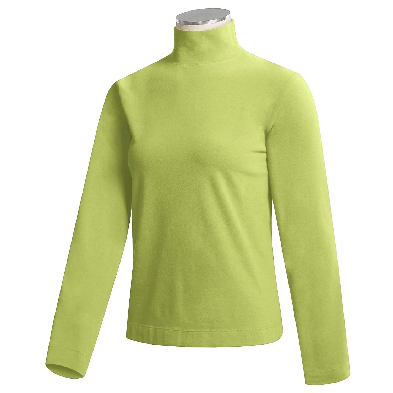 Mock Turtleneck Shirt For Women 86512 Save 65