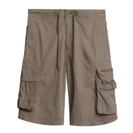 Poplin Cargo Shorts- Cotton-Poly  (For Men)