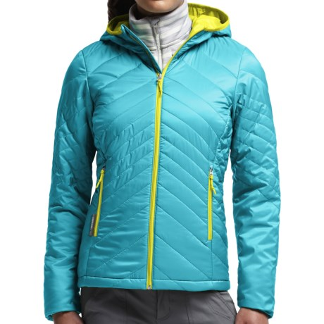 Icebreaker MerinoLOFT Helix Hooded Jacket - Merino Wool, Insulated (For Women)