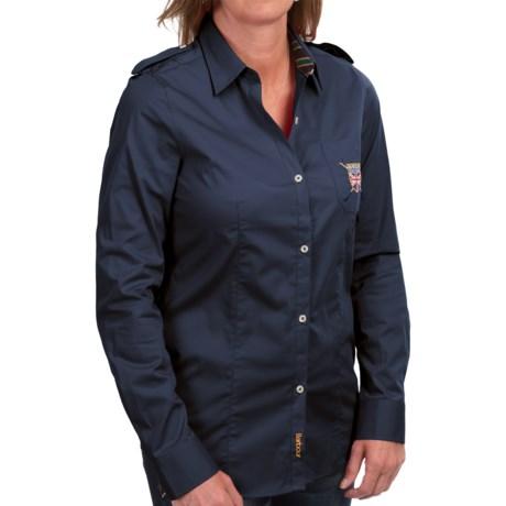 Barbour Ashfarm Stretch Cotton Shirt - Long Sleeve (For Women)