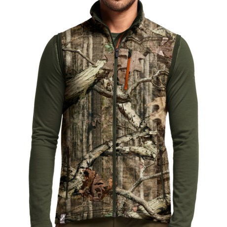 Icebreaker Realfleece Sierra Mossy Oak® Vest - Merino Wool, UPF 20+, Full Zip (For Men)