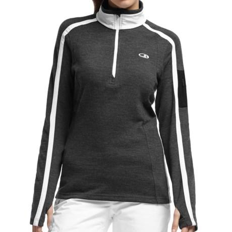 Icebreaker Chateau Sweater - Merino Wool, Zip Neck (For Women)