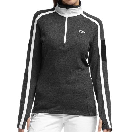 Icebreaker Chateau Sweater - Merino Wool, Zip Neck (For Women)