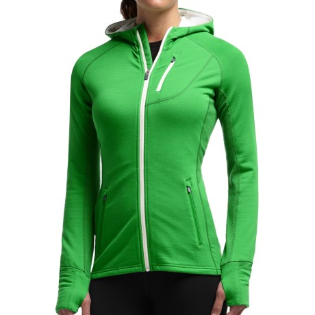 Icebreaker Quantum Jacket - Merino Wool, UPF 40+, Hooded (For Women)
