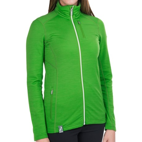 Icebreaker Cascade RealFleece 260 Jacket - UPF 20+, Merino Wool, Full Zip (For Women)