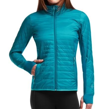 Icebreaker MerinoLOFT Helix Jacket - Merino Wool, Insulated (For Women) in Alpine/Aquamarine/Aquamarine - Closeouts