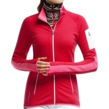 Icebreaker Atom Jacket - Merino Wool, Full Zip (For Women) in Garnet/White/White - Closeouts
