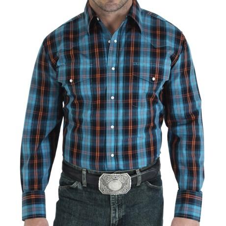 Wrangler Poplin Plaid Shirt - Snap Front, Long Sleeve (For Men)