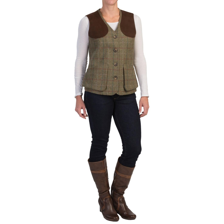 Barbour Swaledale Wool Tweed Shooting Vest (For Women ...
