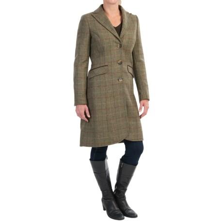 Barbour Swaledale Covert Long Coat - Wool Tweed (For Women)