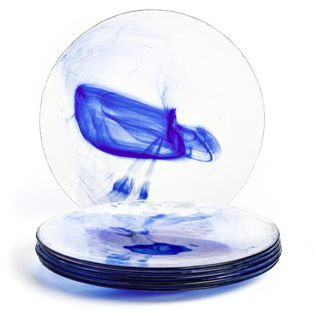 Bormioli Rocco Murano Dinner Plates - Tempered Glass, Set of 6