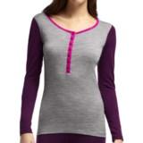 Icebreaker BodyFit 200 Oasis Henley Base Layer Top - UPF 30+, Merino Wool, Long Sleeve (For Women)
