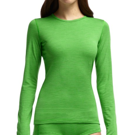 Icebreaker Bodyfit 200 Oasis Stripe Base Layer Top - UPF 30+, Merino Wool, Long Sleeve (For Women)