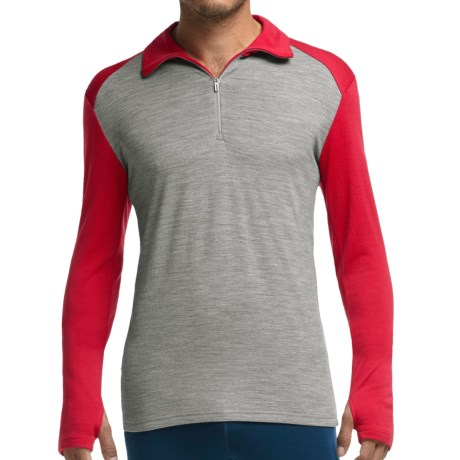 Icebreaker BodyFit 260 Tech Base Layer Zip Neck Top - UPF 30+, Merino Wool, Long Sleeve (For Men)