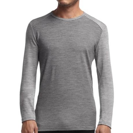 Icebreaker Bodyfit 260 Tech Stripe Base Layer Top - UPF 30+, Midweight, Merino Wool, Long Sleeve (For Men)