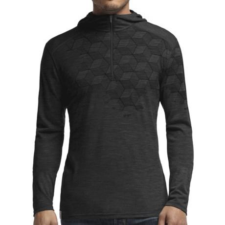 Icebreaker Bodyfit 200 Cubert Koch Snowflake Hoodie - UPF 30+, Merino Wool, Zip Neck (For Men)