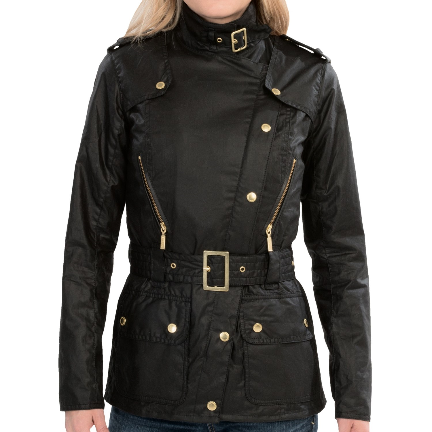 Barbour International April Waxed Cotton Jacket (For Women). Hover to zoom
