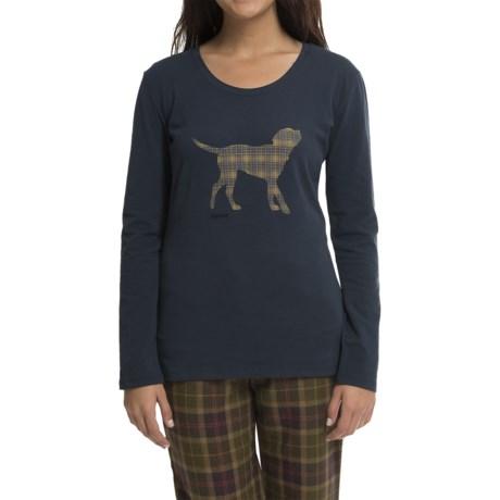 Barbour Cotton T-Shirt - Long Sleeve (For Women)