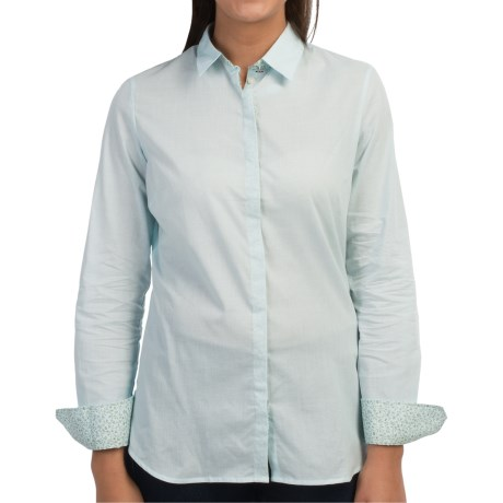 Barbour Cotton Button Front Shirt - Long Sleeve (For Women)