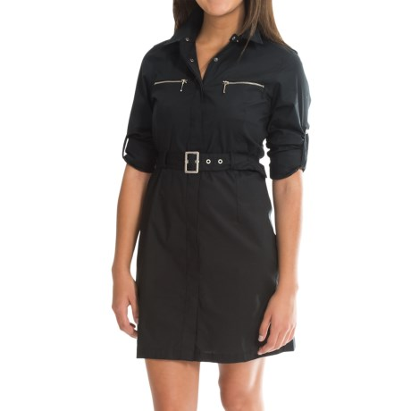 Barbour Cotton Knee-Length Dress - Long Sleeve (For Women)
