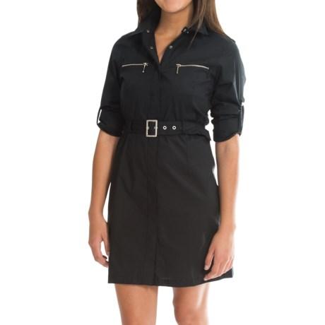 Barbour Cotton Knee-Length Dress - Long Sleeve (For Women)