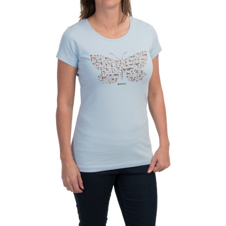 Barbour Printed Cotton Round Neck T-Shirt - Short Sleeve (For Women)