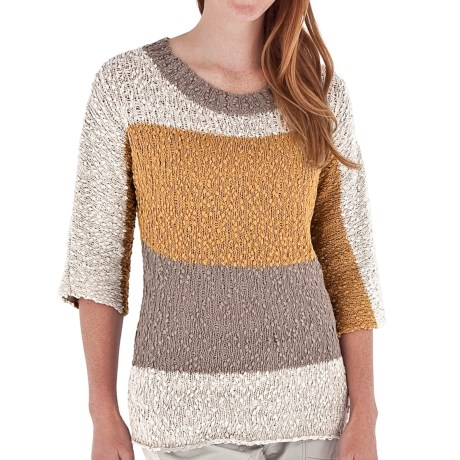 Royal Robbins Karly Stripe Sweater - 3/4 Sleeve (For Women)