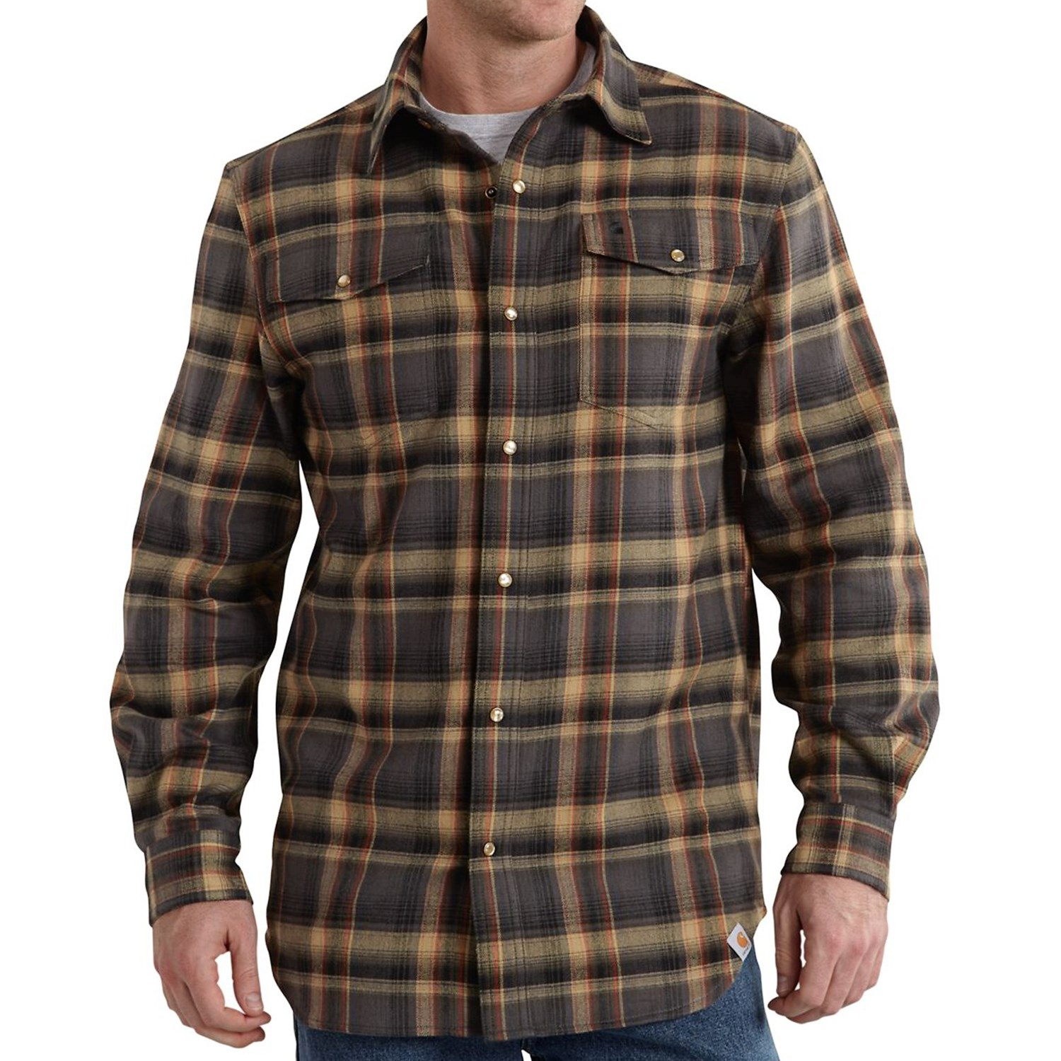 carhartt trumbull flannel shirt for big and tall men 8728v