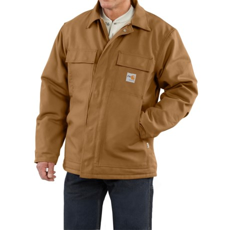 Carhartt Flame-Resistant Duck Traditional Coat - Quilt-Lined (For Men)