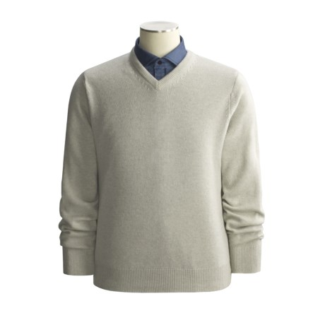 John Scott Geelong Merino Wool Sweater - V-Neck (For Men)