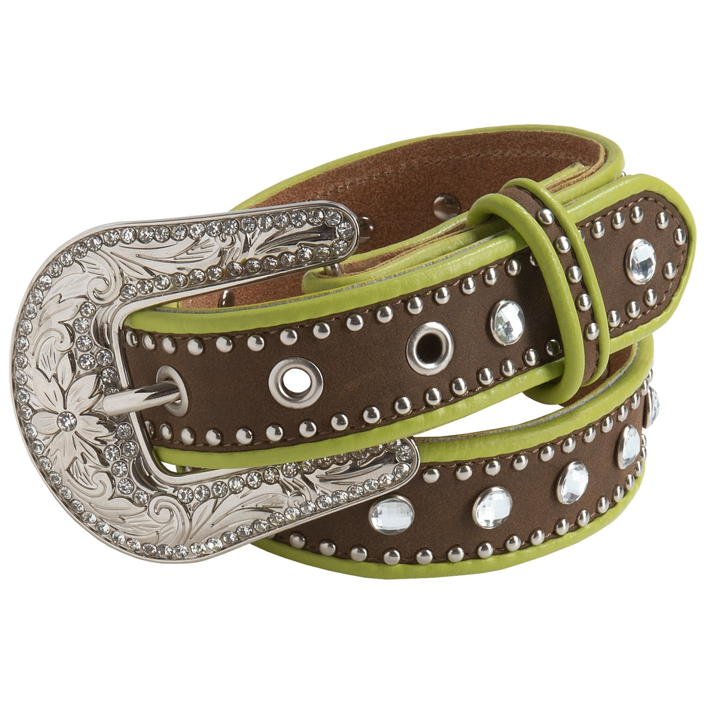 nocona rhinestone stud leather belt for 8750r
