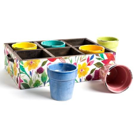 Studio M Fleur Petite Caddy and Pot Set - 7-Piece