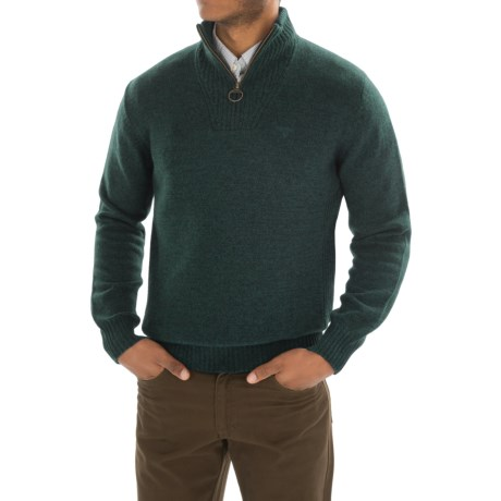 Barbour Essential Lambswool Sweater - Zip Neck (For Men)