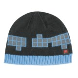 Drop Squares Cuff Beanie Hat (For Women)