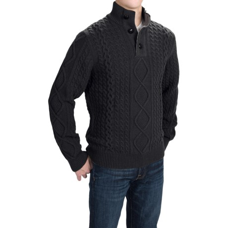 Barbour Kirktown Lambswool Sweater - Button Neck (For Men)