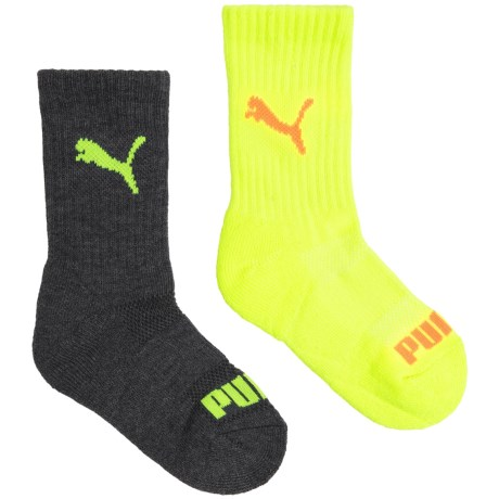 Puma Ribbed Terry Socks - Crew, 6-Pack (For Boys)