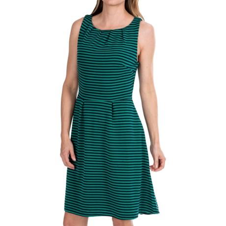 Mary McFadden Striped Ponte Knit Dress - Sleeveless (For Women)
