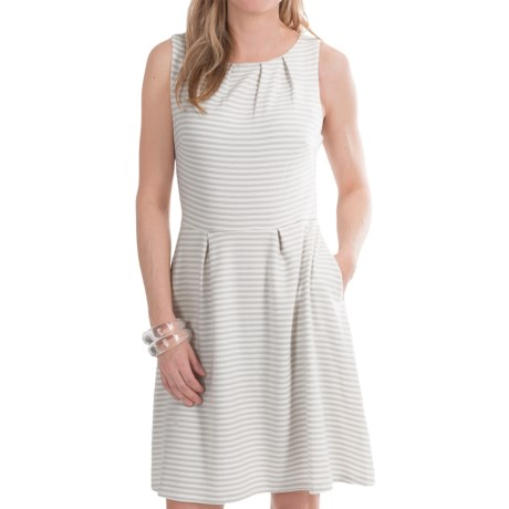 Mary McFadden Striped Ponte Knit Dress - Sleeveless (For Women)