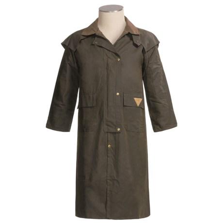 Wilderness Wear Australia Standard Riding Coat - Waxed Cotton, Full-Length (For Men)