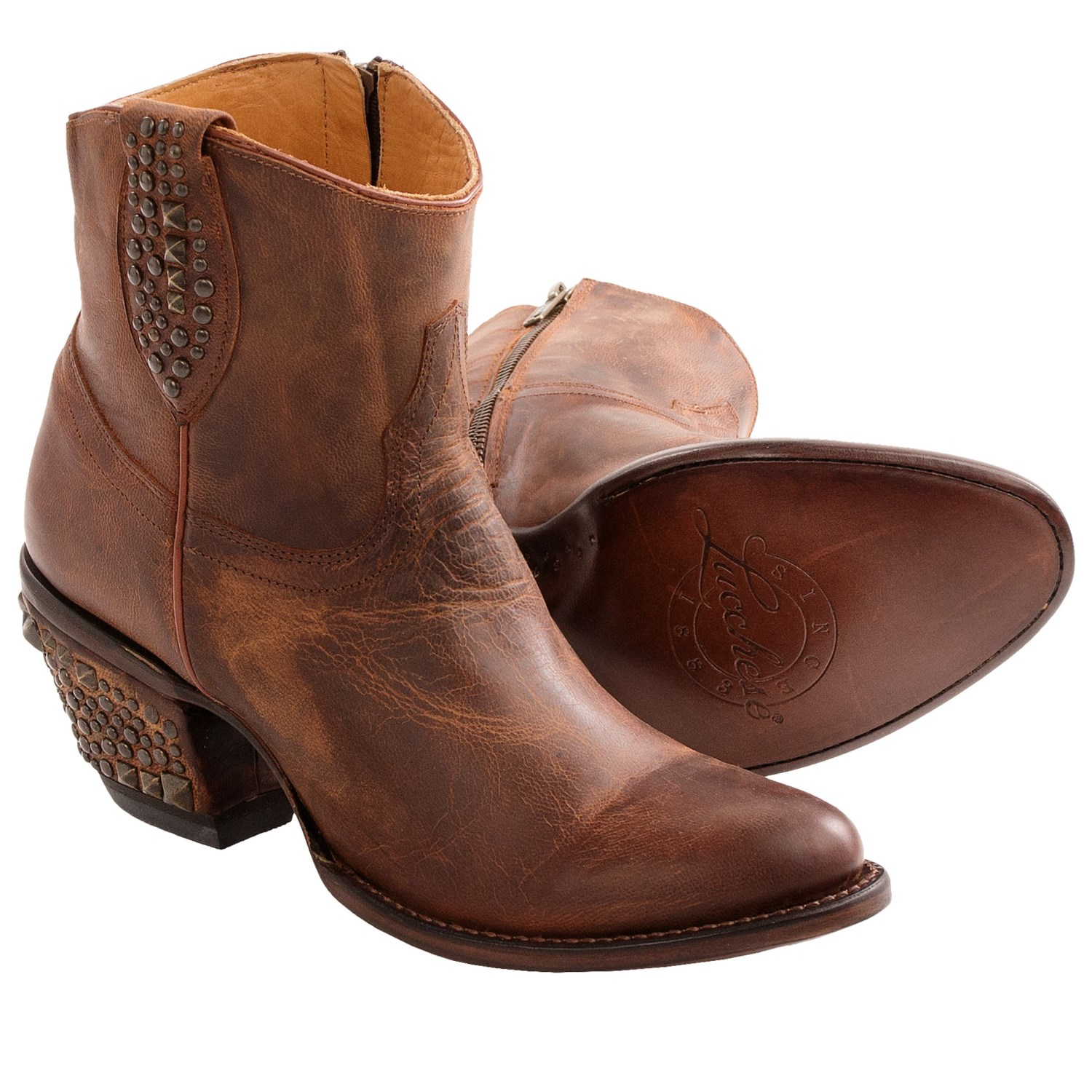 Simple Lucchese Janis Ankle Boots (For Women) 8816J