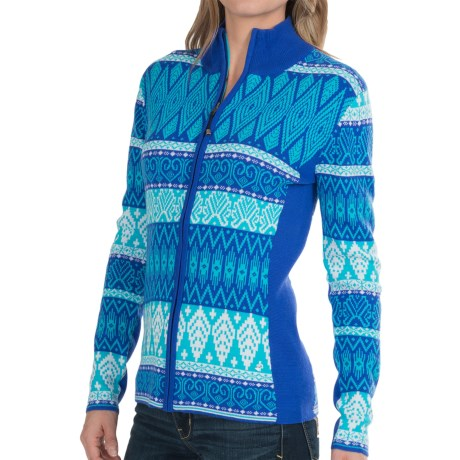 Obermeyer Jodi Ski Cardigan Sweater - Merino Wool-Acrylic (For Women)